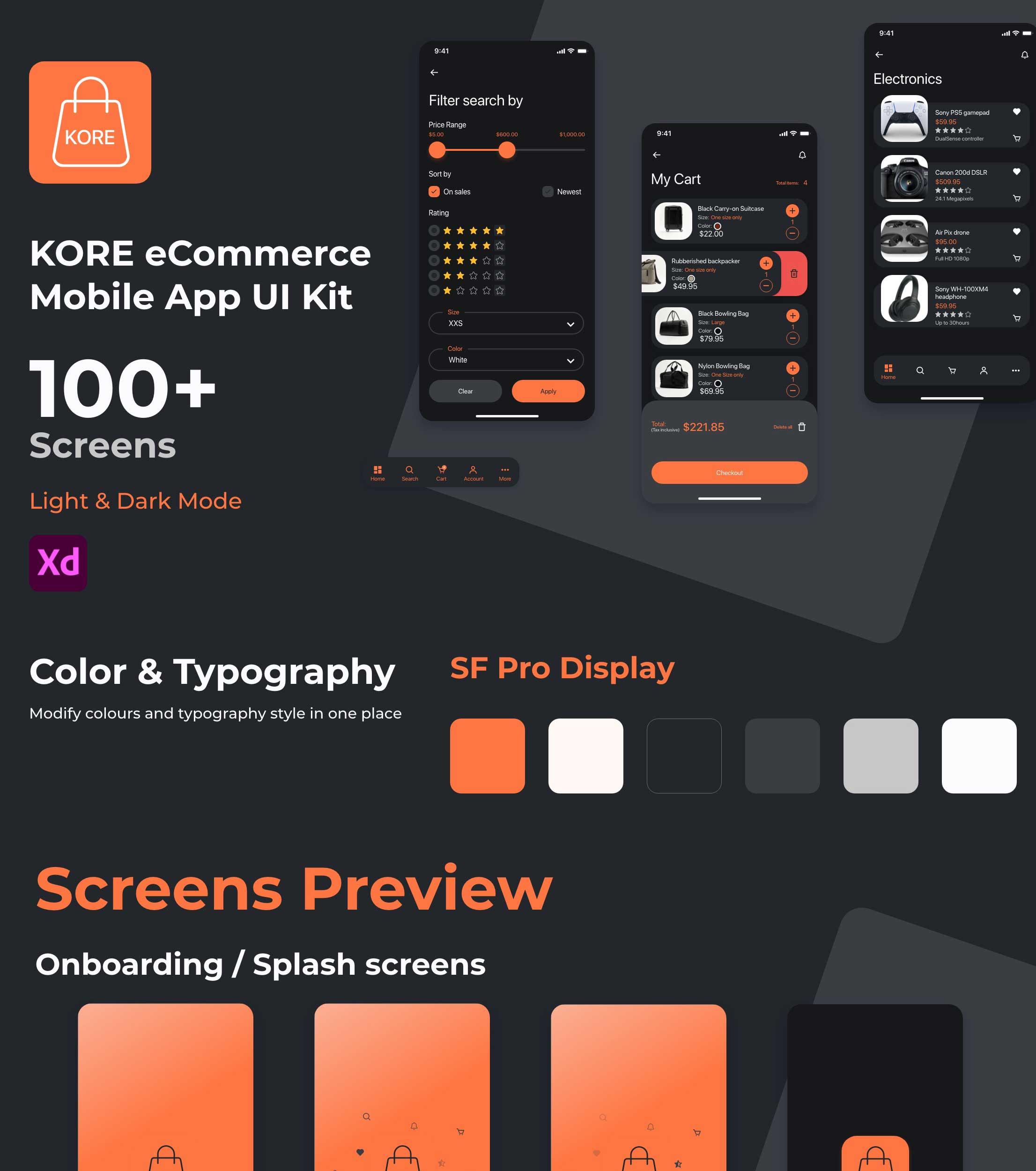 kore_app_ui_kit dark theme a
