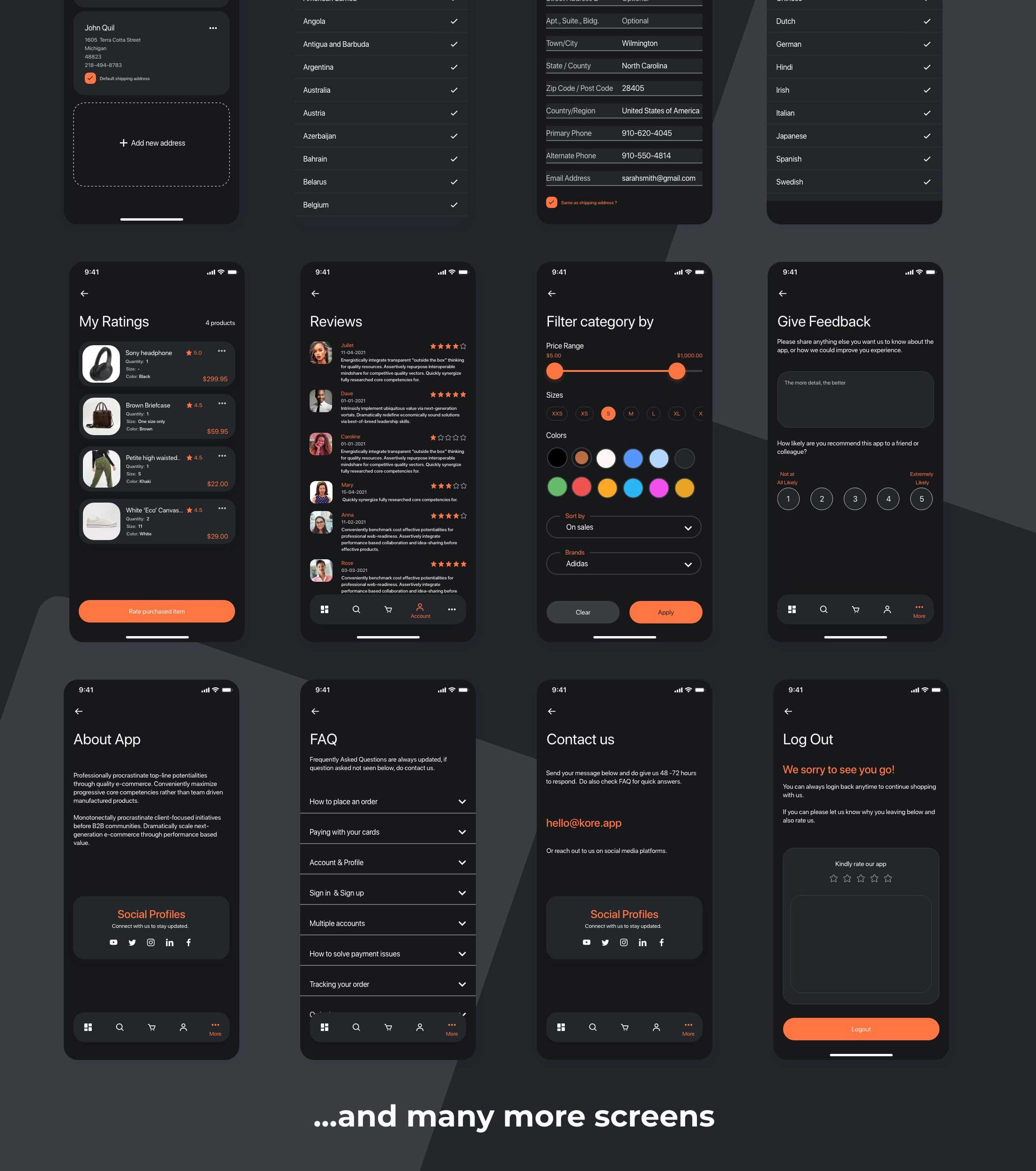 kore_app_ui_kit dark theme h